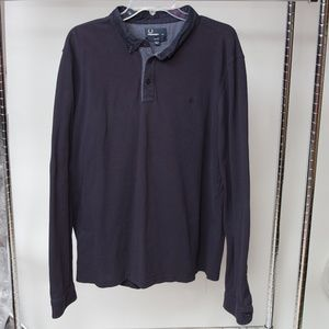 Fred Perry Long Sleeve Polo Shirt Size XXL